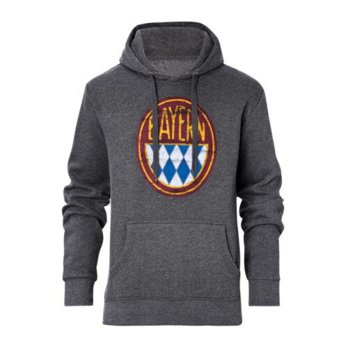 Bayern Retro Logo Casual Sweater Grey