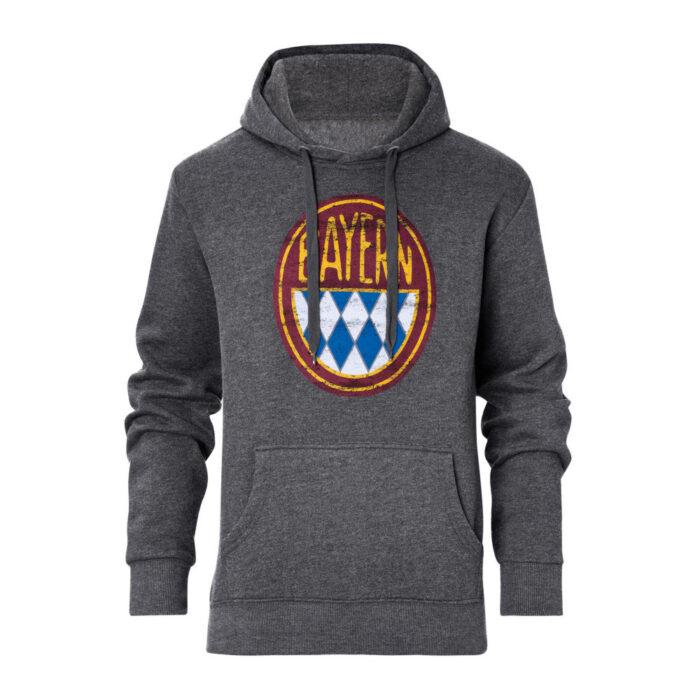 Bayern Retro Logo Casual Sweater Grey
