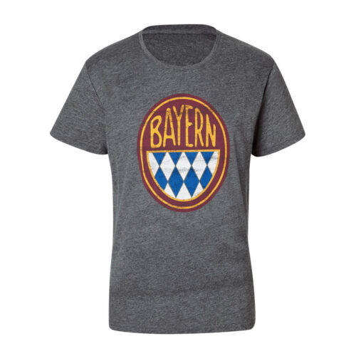 Bayern Retro Logo Casual T-shirt Grey