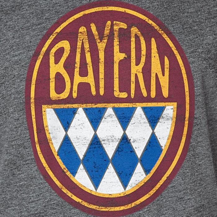 Bayern Retro Logo Maglietta Casual Grigia
