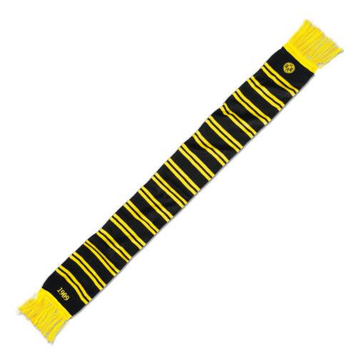 Borussia Dortmund Ringelstreifen Écharpe Noir