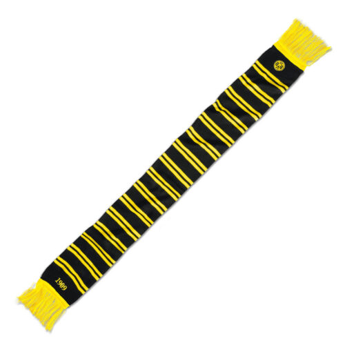 Borussia Dortmund Ringelstreifen Black Scarf