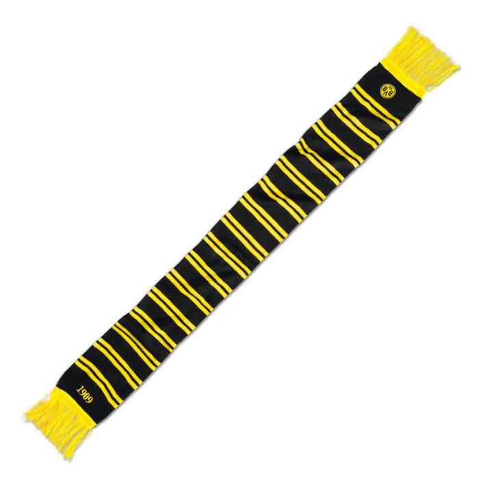 Borussia Dortmund Ringelstreifen Sciarpa Nera