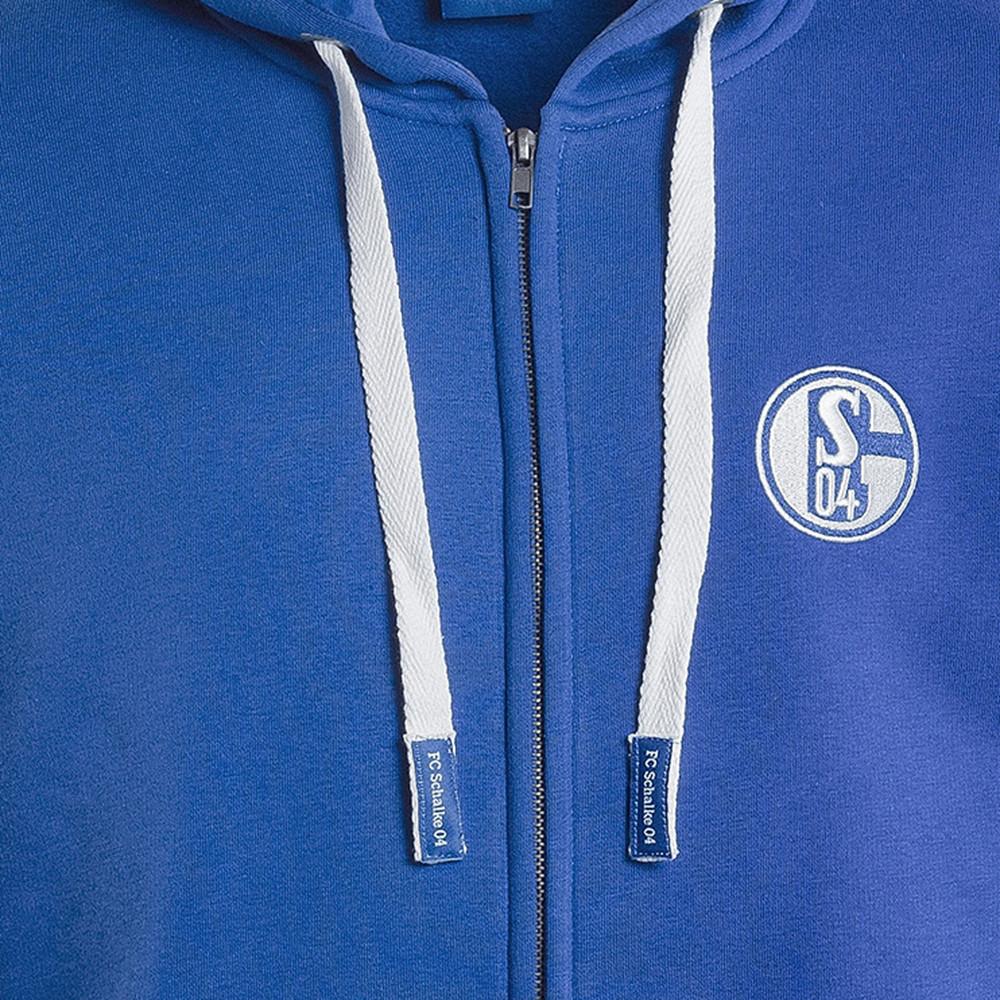 Schalke 04 Königsblau Giacca Tuta Casual