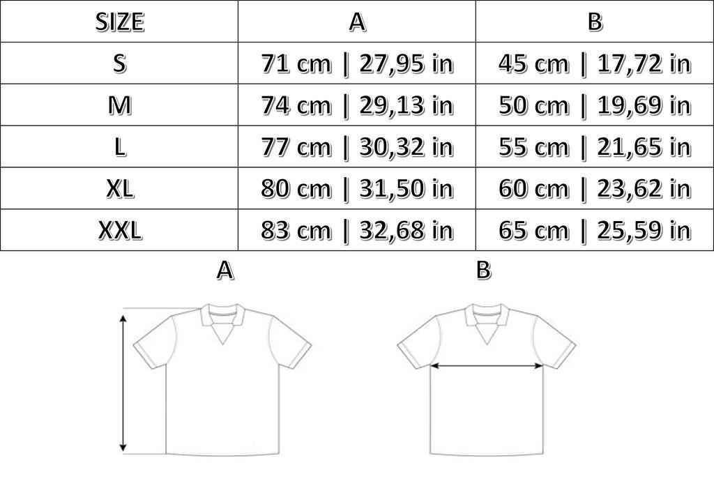 Taglie Maglie Storiche e T-shirts Admiral
