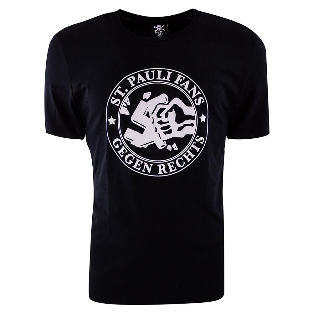 St Pauli Gegen Rechts Tee Shirt Casual