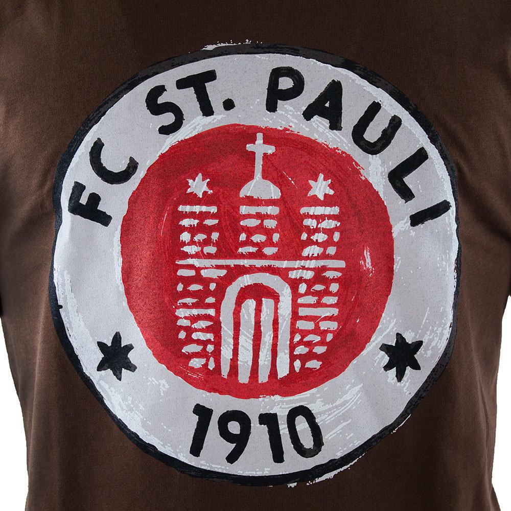 St Pauli Logo Paint Maglietta Casual