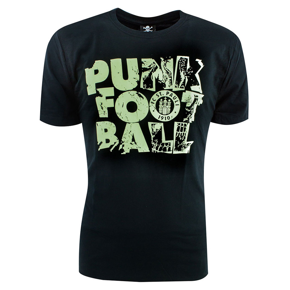 St Pauli Punk Football Maglietta Casual