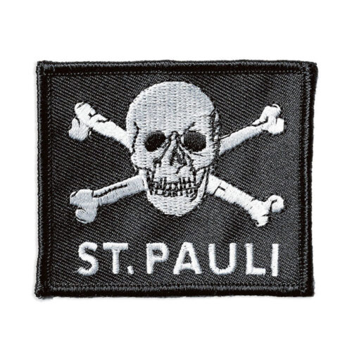 St Pauli Totenkopf Patch Brodé