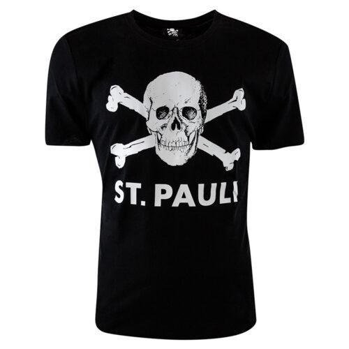 St Pauli Totenkopf Casual T-shirt Black