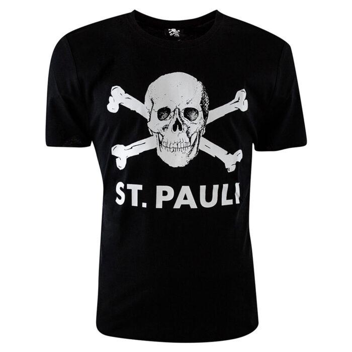 St Pauli Totenkopf Maglietta Casual Nera
