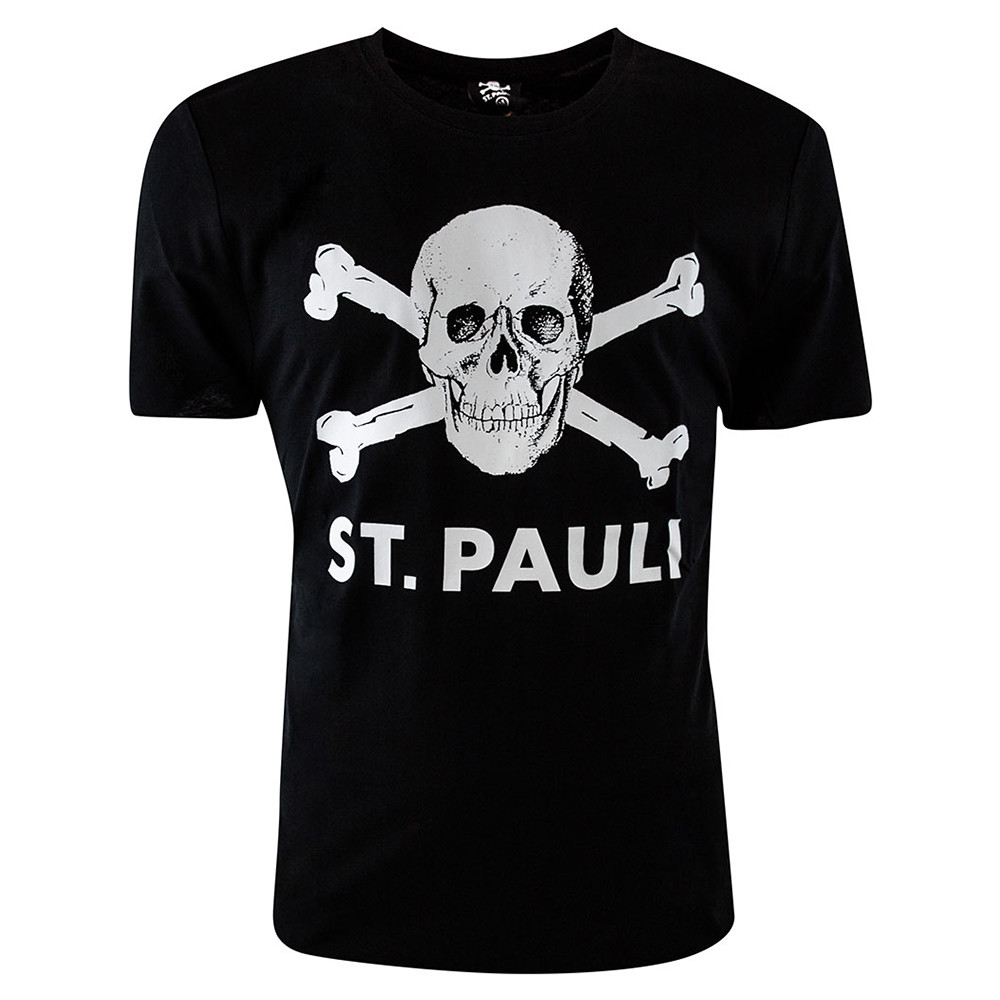 St Pauli Totenkopf Tee Shirt Casual Noir