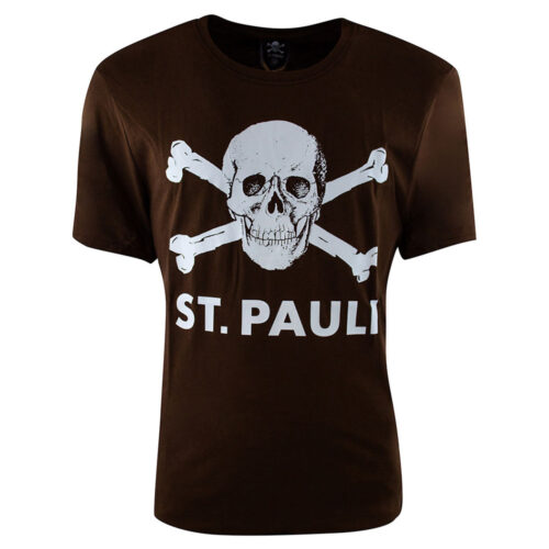 St Pauli Totenkopf Casual T-shirt Brown