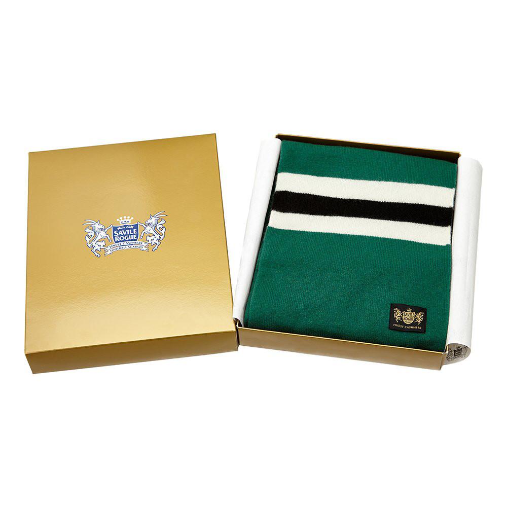 Sciarpa Cashmere Bianco-Nero-Verde Deluxe