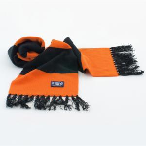 Sciarpa Cashmere Arancione-Nero Deluxe