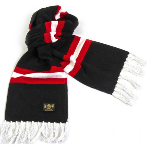 Sciarpa Cashmere Nero-Bianco-Rosso Deluxe