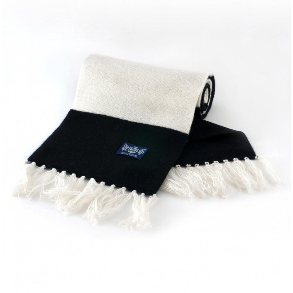 Sciarpa Cashmere Bianco-Nero Deluxe