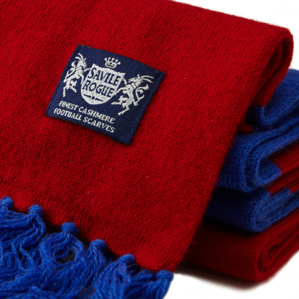 Sciarpa Cashmere Blu-Granata Deluxe