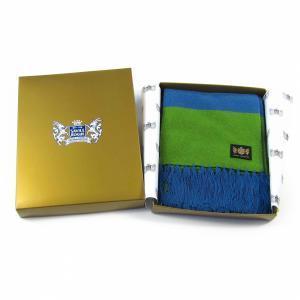 Sciarpa Cashmere Azzurro-Verde Deluxe