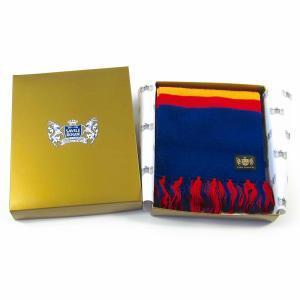 Sciarpa Cashmere Blu-Giallo-Rosso Deluxe