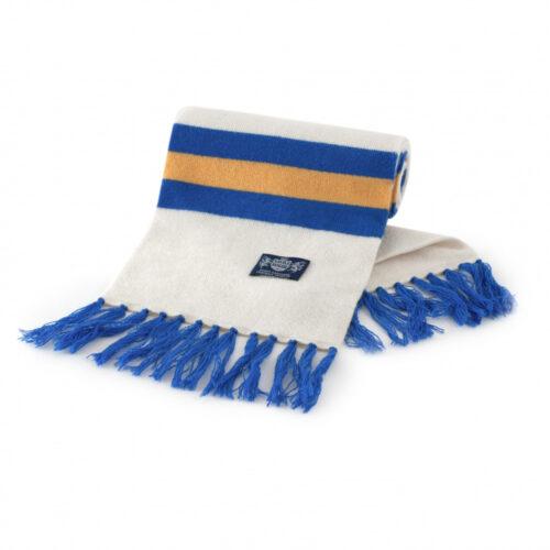 Sciarpa Cashmere Azzurro-Bianco-Giallo Deluxe