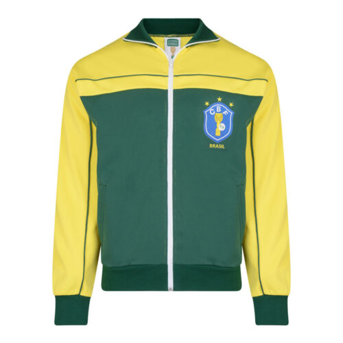 Brazil 1986 Retro Football Track Top