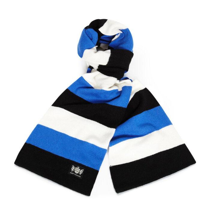 Sciarpa Cashmere Azzurro-Bianco-Nero Minibar