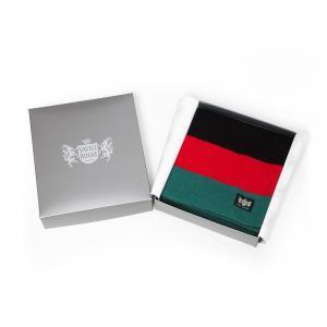 Sciarpa Cashmere Nero-Rosso-Verde Minibar