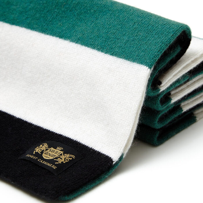 Sciarpa Cashmere Bianco-Nero-Verde Minibar