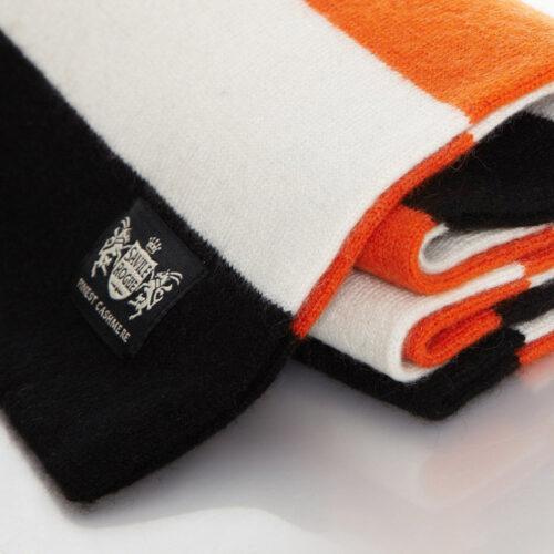 Sciarpa Cashmere Arancione-Bianco-Nero Minibar