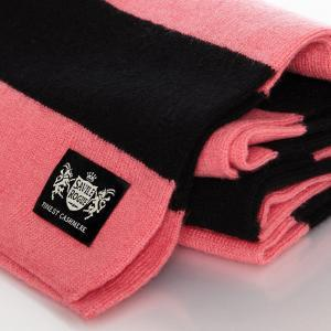 Sciarpa Cashmere Nero-Rosa Minibar