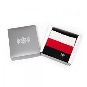 Sciarpa Cashmere Bianco-Nero-Rosso Minibar