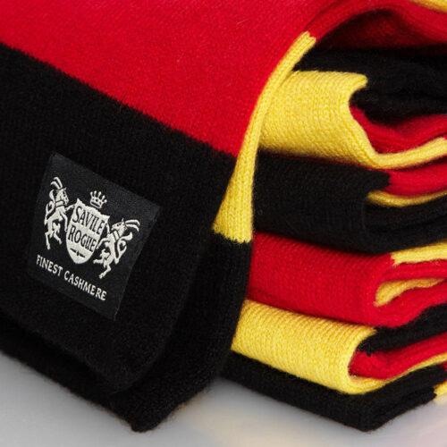Sciarpa Cashmere Giallo-Nero-Rosso Minibar