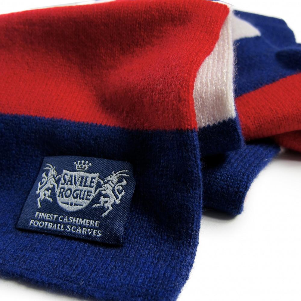 Sciarpa Cashmere Azzurro-Bianco-Rosso Minibar