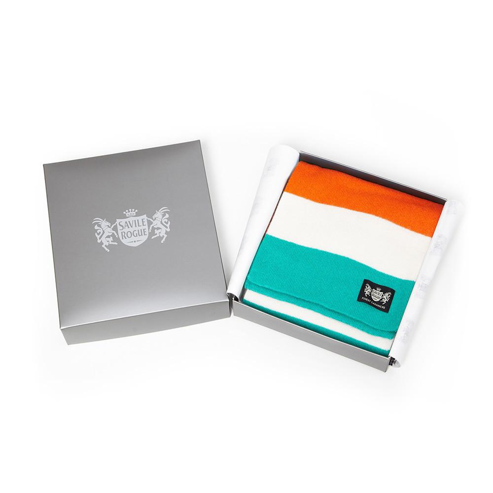 Sciarpa Cashmere Arancione-Bianco-Verde Minibar