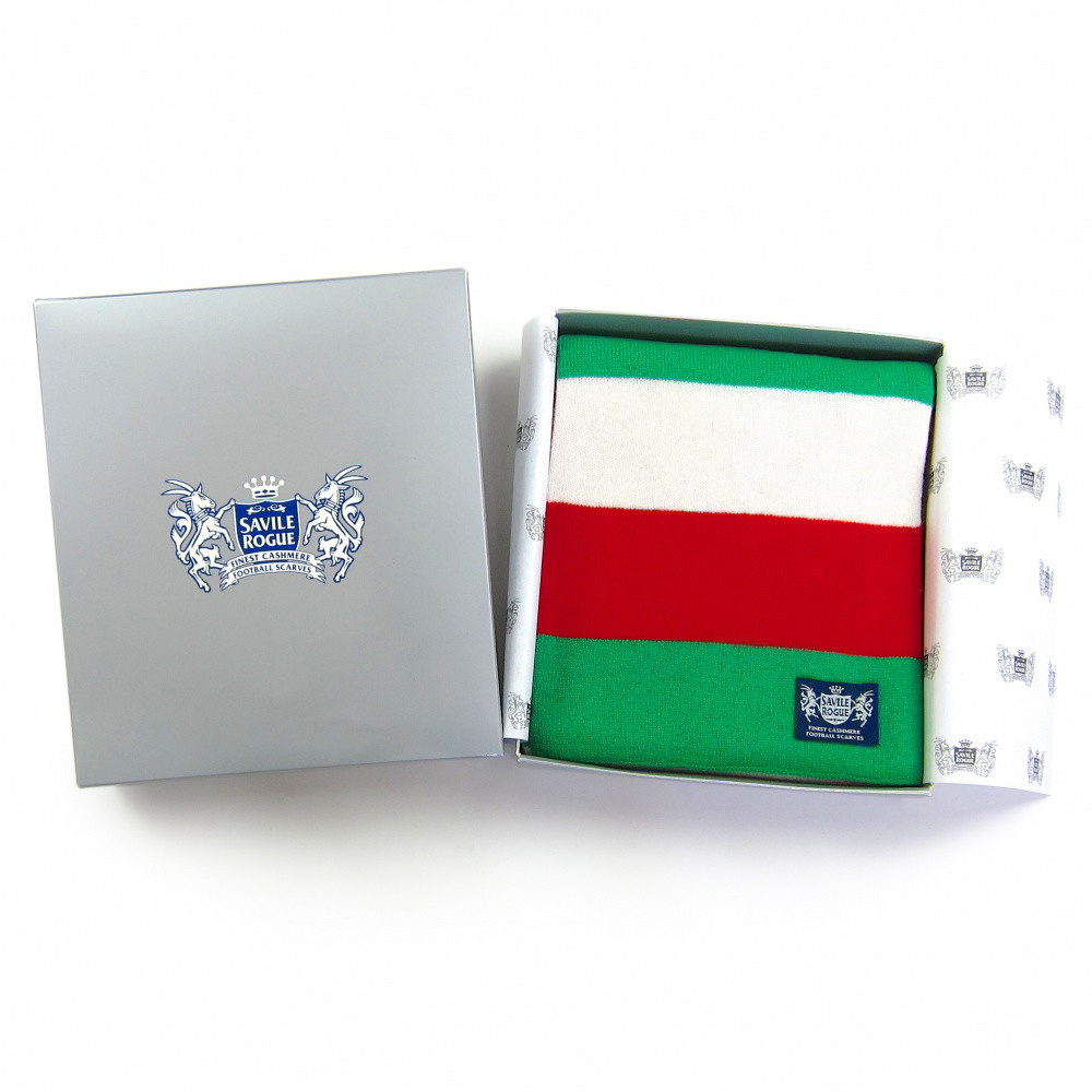 Sciarpa Cashmere Bianco-Verde-Rosso Minibar