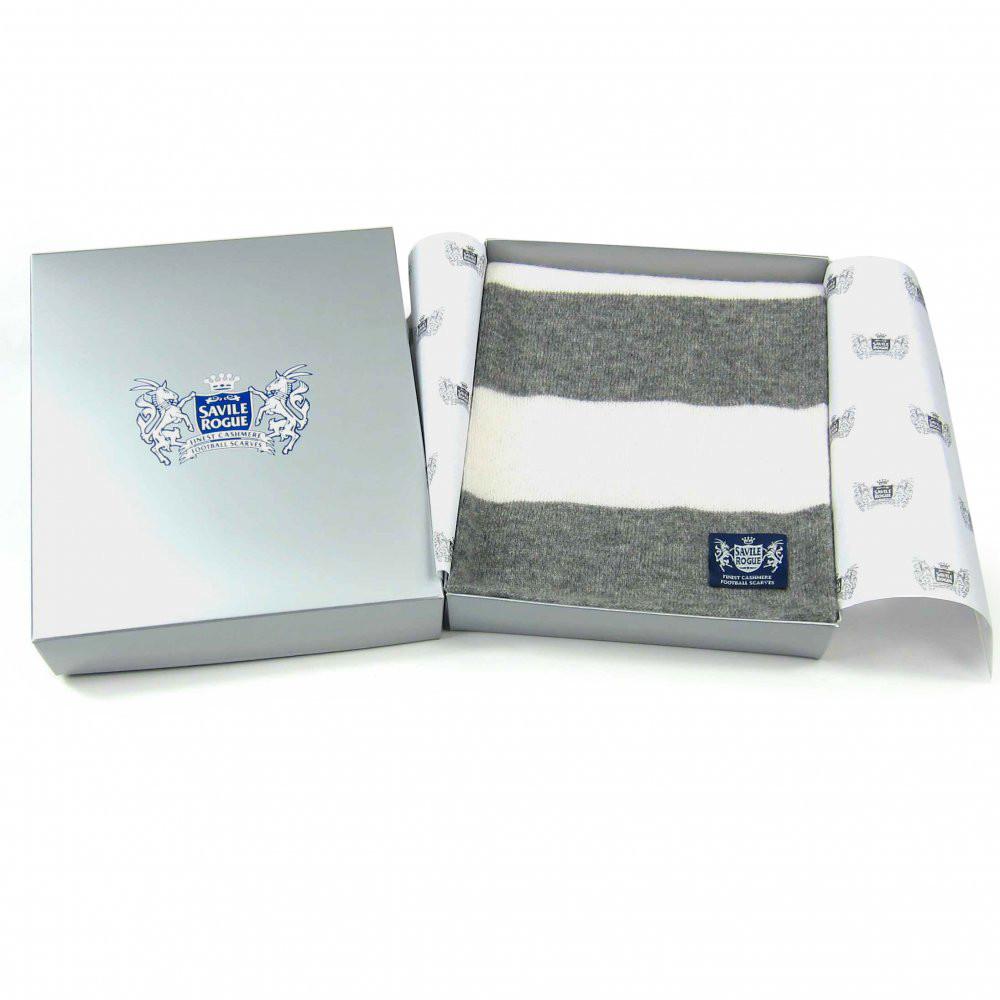 Sciarpa Cashmere Bianco-Grigio Minibar
