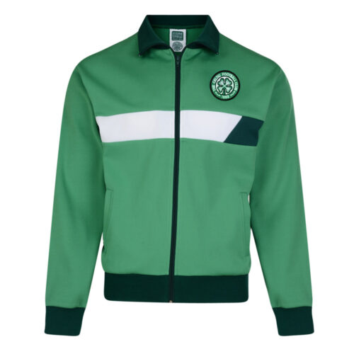 Celtic Glasgow 1986-87 Retro Football Track Top