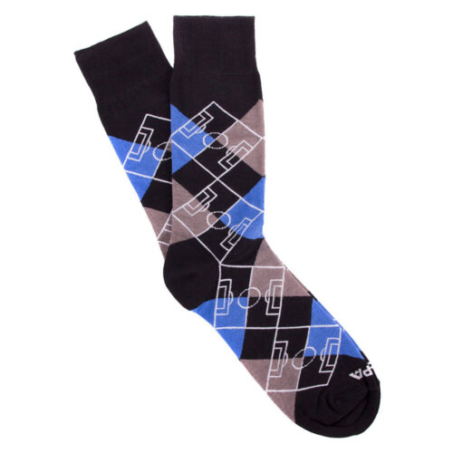 Copa Argyle Pitch Socks Black Blue Grey