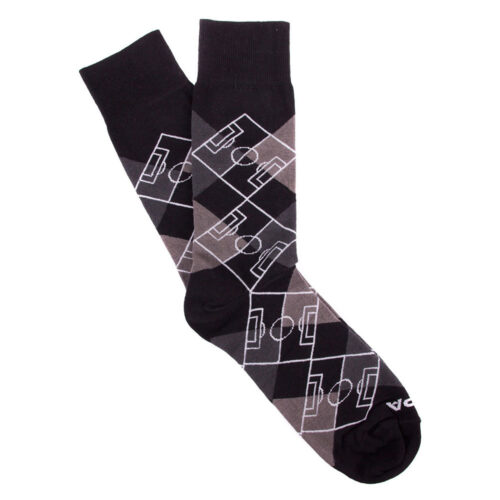 Copa Argyle Pitch Calcetines Gris Negro