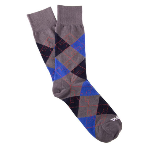 Copa Argyle Pitch Socks Blue Grey Navy