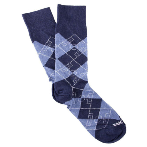 Copa Argyle Pitch Socks Navy Sky