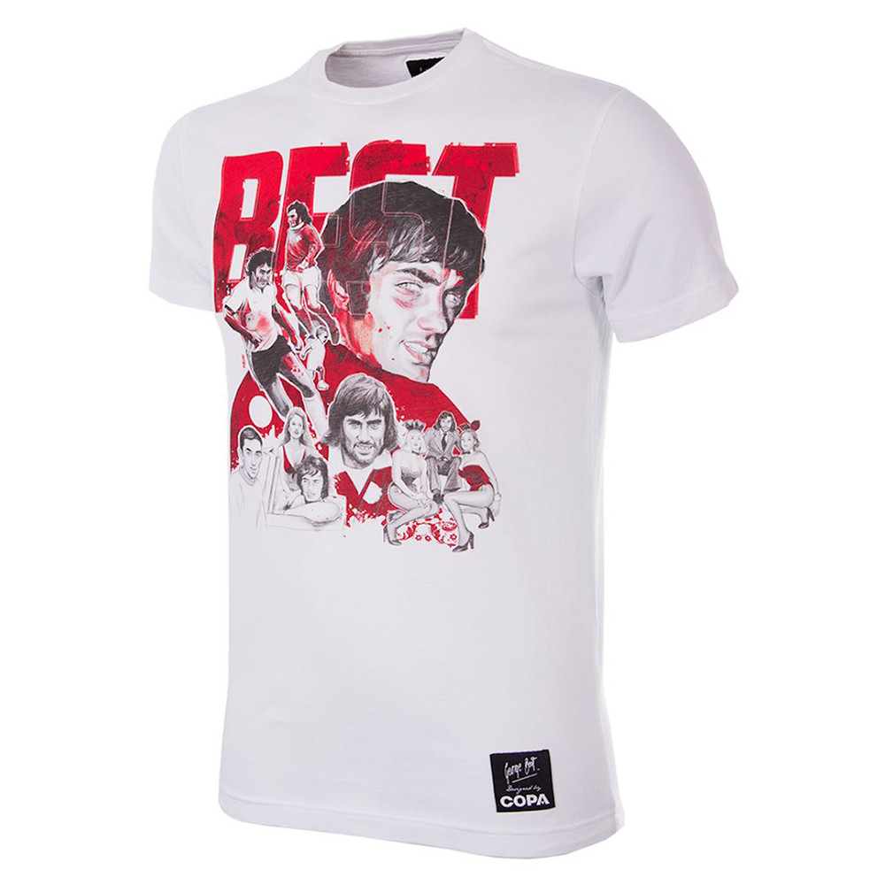 George Best Collage Camiseta Casual