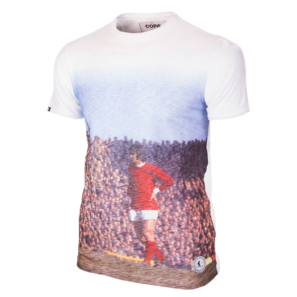 George Best Manchester All Over Camiseta Casual