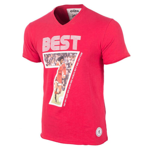George Best Miss World Casual T-shirt V-Neck