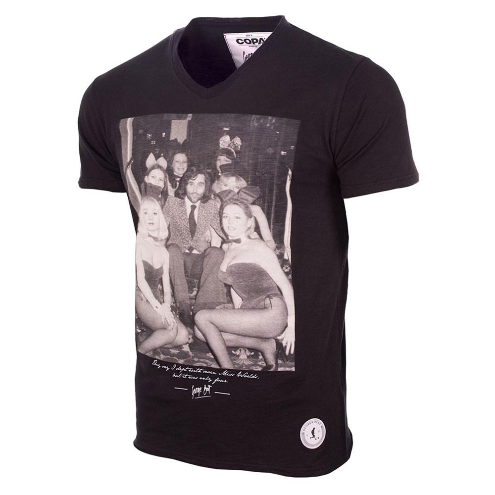 George Best Playboy Bunnies Camiseta Casual