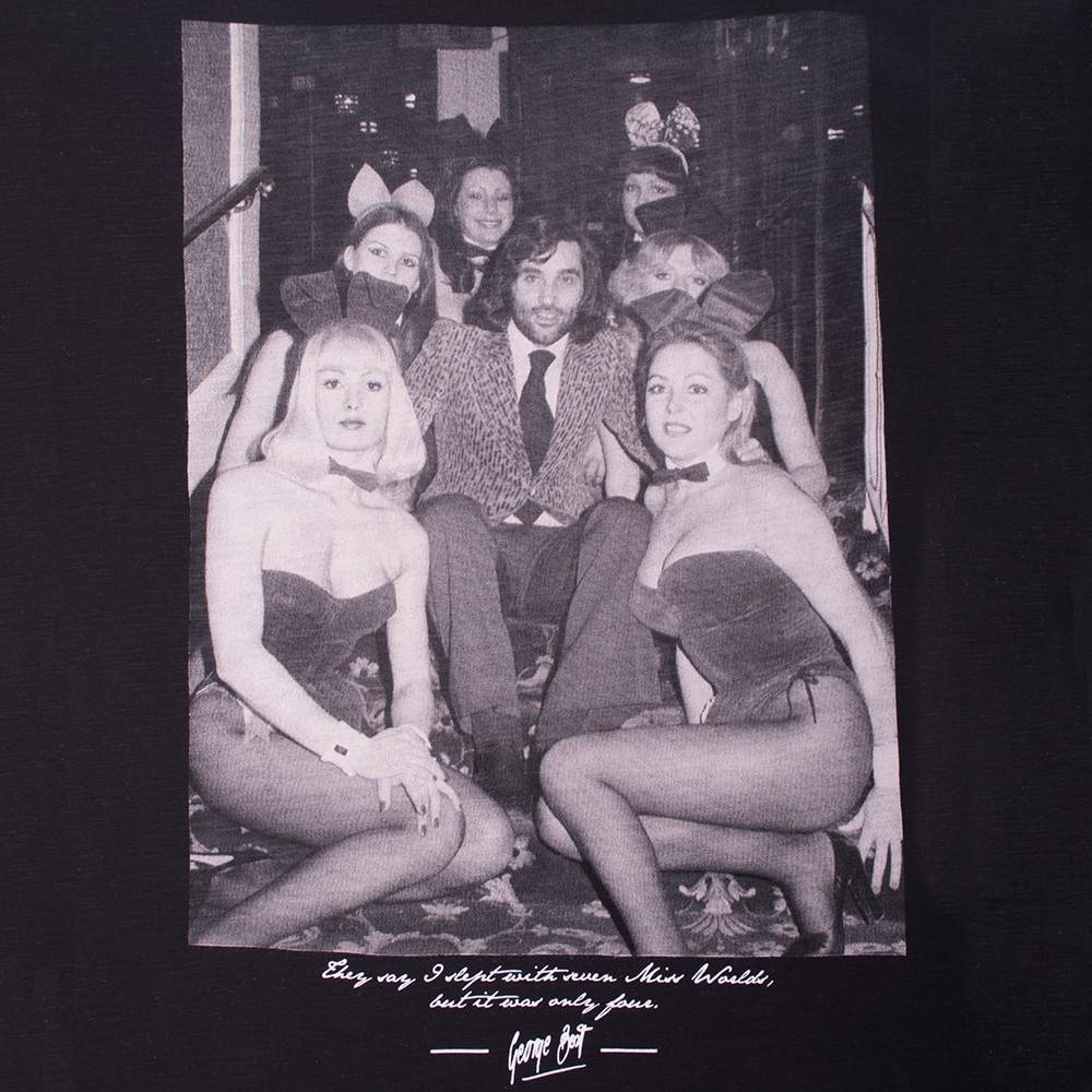 George Best Playboy Bunnies Maglietta Casual