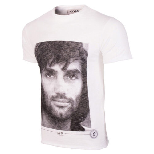 George Best Portrait Maglietta Casual