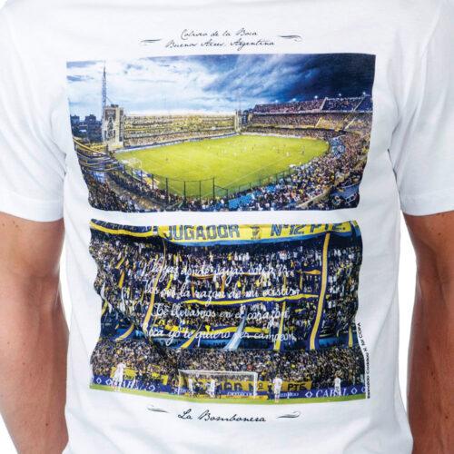 Copa La Bombonera Maglietta Casual Bianca