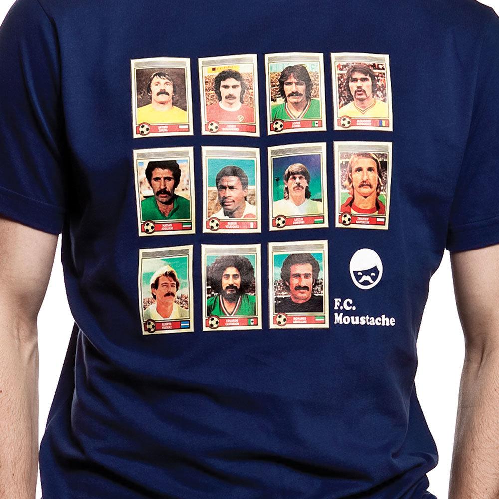 Moustache Dream Team Maglietta Casual Blu